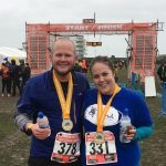 Tom and Emma at the finish line